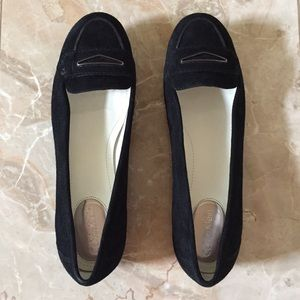 Calvin Klein Black Suede Loafers